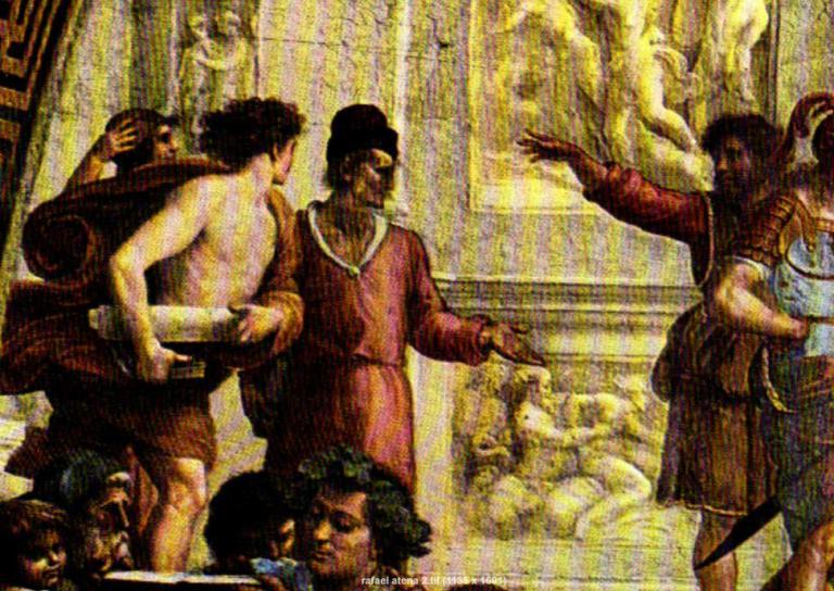 Rafael Selling A Man At School Of Athena